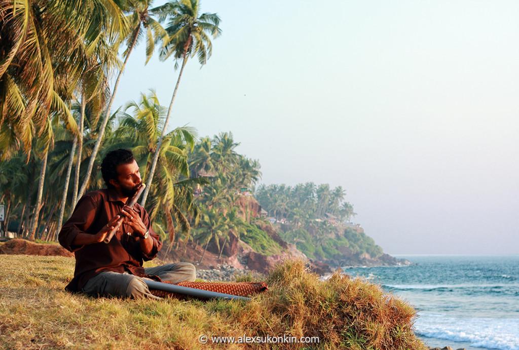 Yoga at marari beach